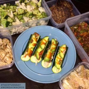 Zucchini boat cod tacos