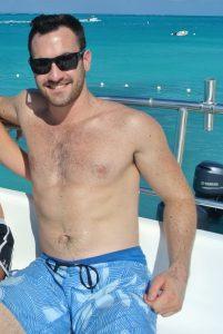 Fat Matt on a boat