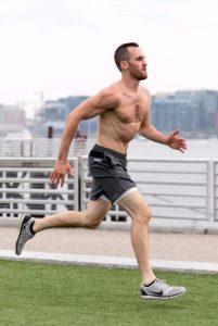 Matt sprinting